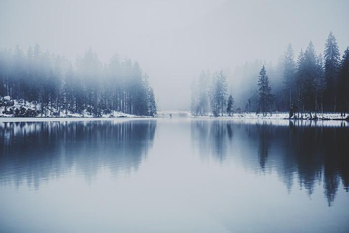 Winter Scene Lake