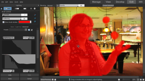 brush-on edits