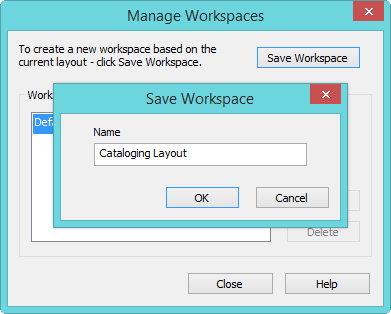 Save Workspace Name