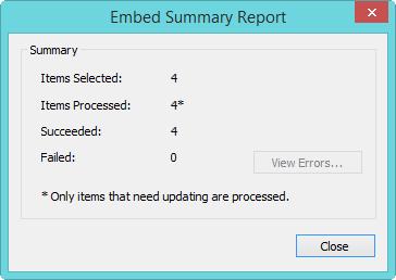 Embedded summary