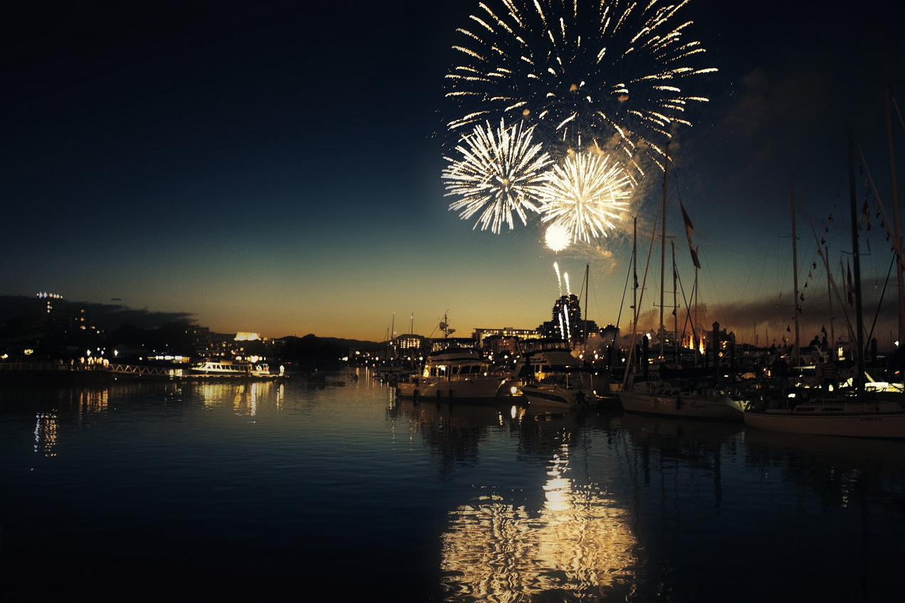 Fireworks in harbour
