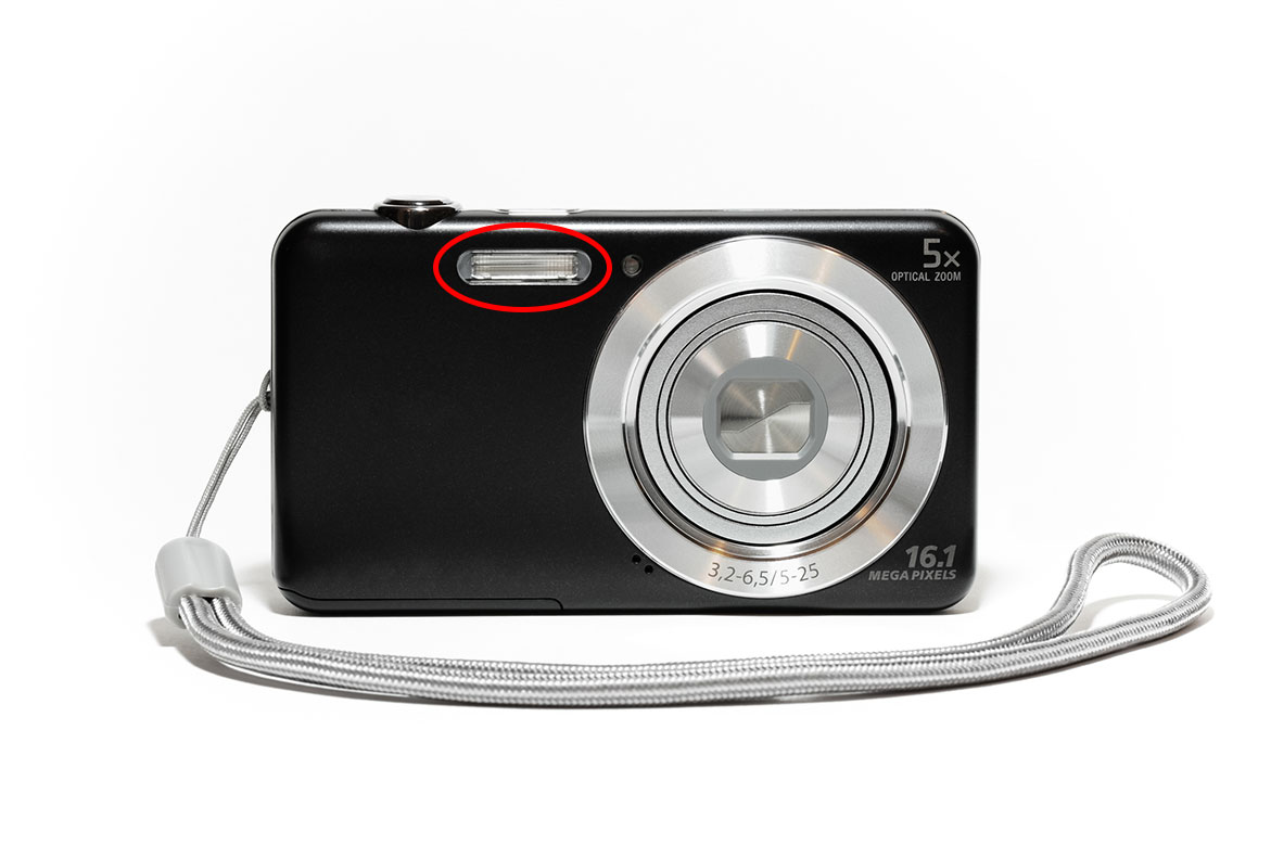 Compact Camera with built-in flash
