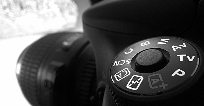 Camera modes dial on DSLR